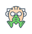 gas mask icon vector image vector image