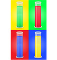 glass tube 09 vector image vector image