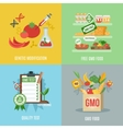 Gmo Flat Set vector image