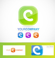 Green letter C logo vector image vector image