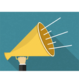 Hand with Megaphone vector image vector image