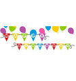 happy birthday banner background vector image vector image