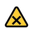hazard warning attention sing symbol icon vector image vector image