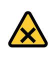 hazard warning attention sing symbol icon vector image