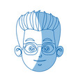 head face doctor wearing glasses image vector image