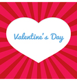 Heart Shape Space Valentines Day Concept vector image