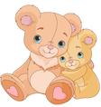 Hugging bears vector image vector image