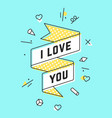 i love you vintage ribbon banner vector image