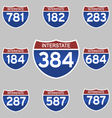 INTERSTATE SIGNS vector image vector image