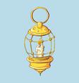 kerosene lamp icon cartoon of vector image