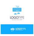 keyboard interface type typing blue logo vector image vector image