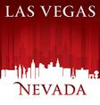 Las Vegas Nevada city skyline silhouette vector image vector image