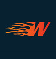 letter w flame logo speed logo design concept vector image vector image