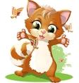 little kitten vector image