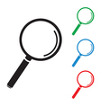 magnifying glass group vector image vector image