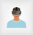 man in glasses virtual reality vector image vector image