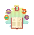 menu restaurant or cafe flat style vector image