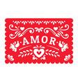 mexican papel picado fiesta banner garland vector image vector image