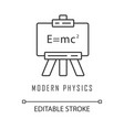 modern physics linear icon theory relativity vector image