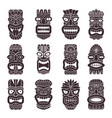 monochrome set of tribal god vector image