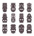 monochrome set tribal god vector image