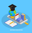 online education composition vector image vector image
