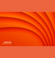 orange bright color wavy background business card vector image