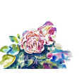 original watercolor painting of pink roses vector image vector image