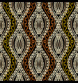 ornate braided wave lines greek seamless pattern vector image vector image