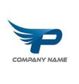 p wings logo vector image