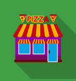 pizzeria icon in flat style isolated on white vector image vector image