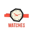 red and black abstract watches vector image vector image