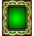 Retro Green Frame vector image