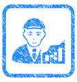 ripple trader framed stamp vector image vector image