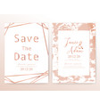 save the date wedding card vector image vector image