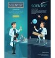 Scientific Vertical Banners vector image vector image