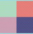 set mermaid tail seamless patterns vector image vector image