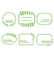 Set of green frames on the theme of ecology vector image vector image