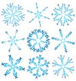 snowflakes made of words vector image vector image