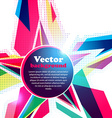 Star frame for your text Abstract background vector image vector image