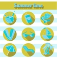 Summer beach travel logo icon vector image vector image