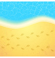 summer beach with steps vector image vector image