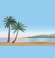 summer holidays background seaside view beach vector image vector image