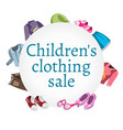 super sale kids clothing and accessories vector image vector image