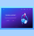 technical support - modern isometric web vector image vector image