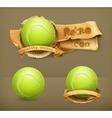 tennis-ball icon vector image vector image