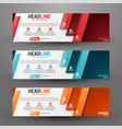 three banners business with abstract background vector image vector image