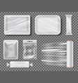 transparent food packages from polythene vector image vector image