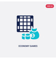 two color economy games icon from business vector image vector image