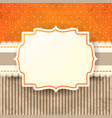 vintage background with label in orange vector image
